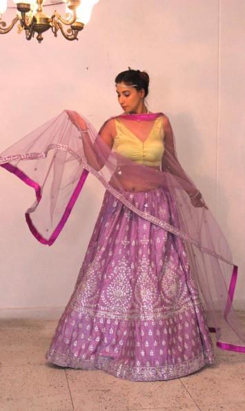 buy designer lehangas online @ Pink Paparazzi