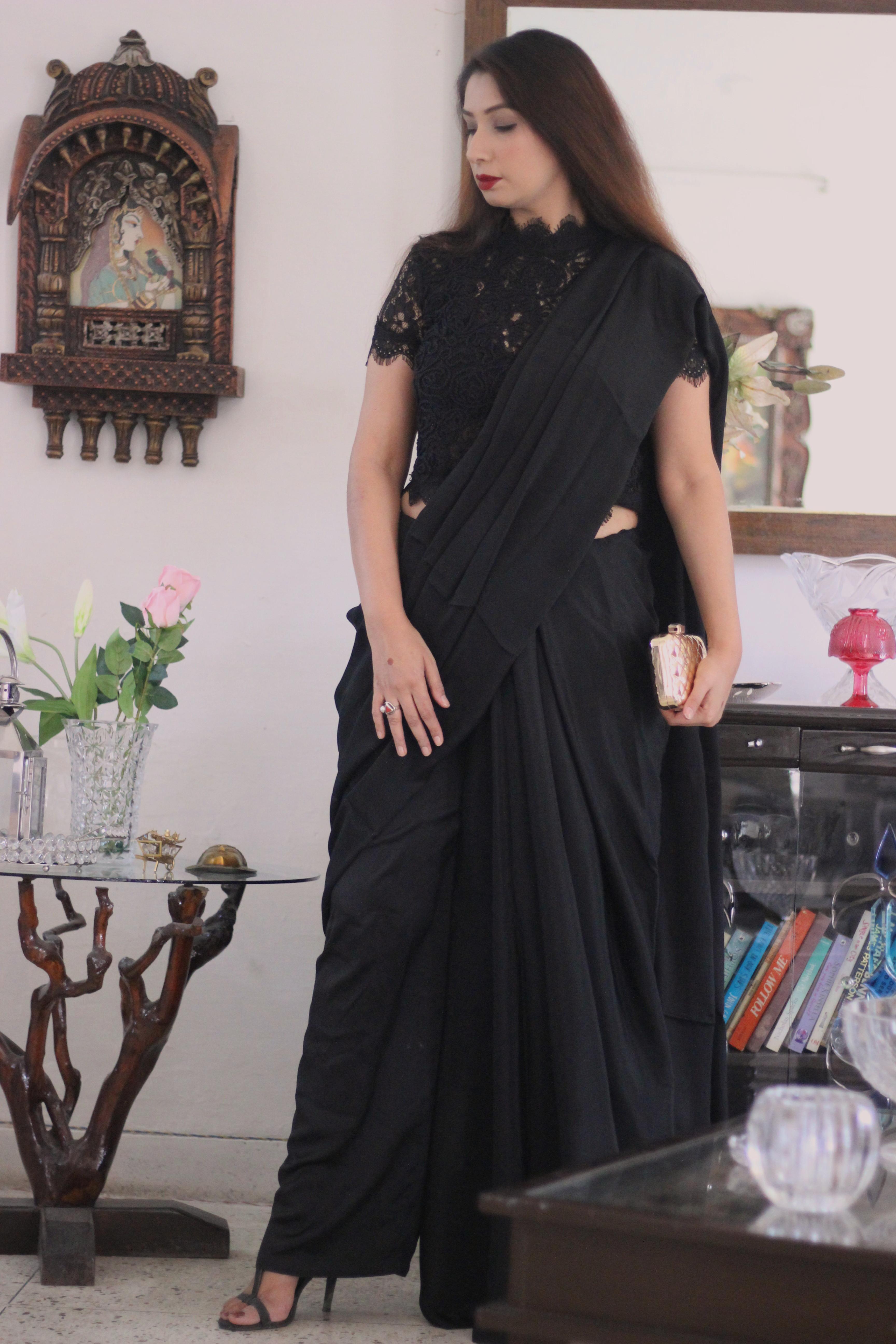 buy designer sarees blouses online - Pink Paparazzi (2)