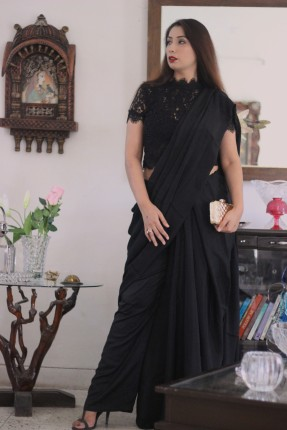 buy designer sarees blouses online - Pink Paparazzi