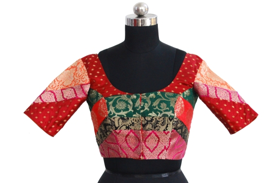 buy readymade saree blouse online @ pink paparazzi (5)