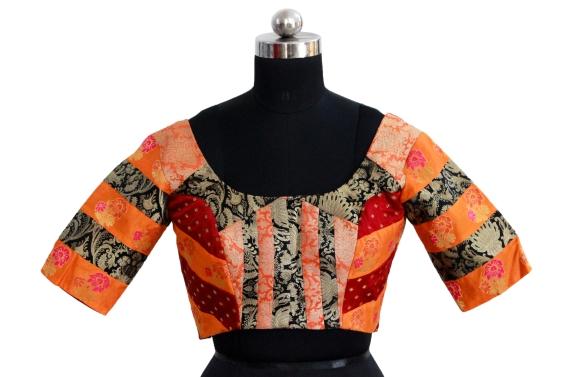buy readymade saree blouse online @ pink paparazzi (8)