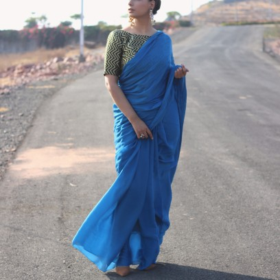 Designer lehenga sarees online shopping @ Pink Paparazzi (6)