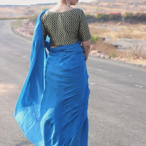 Designer lehenga sarees online shopping @ Pink Paparazzi (7)