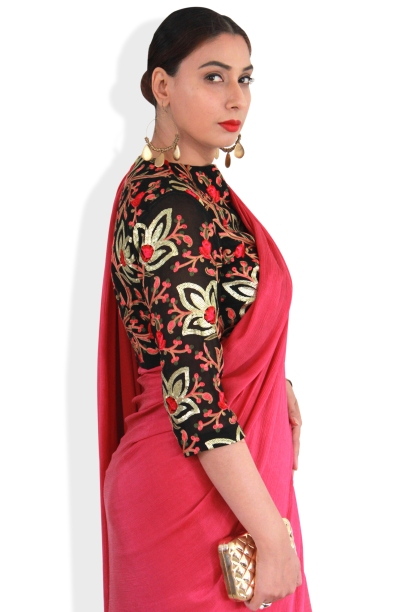 Designer sarees and blouses shop-Pink Paparazzi