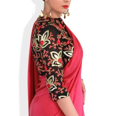 Designer sarees and blouses shop-Pink Paparazzi