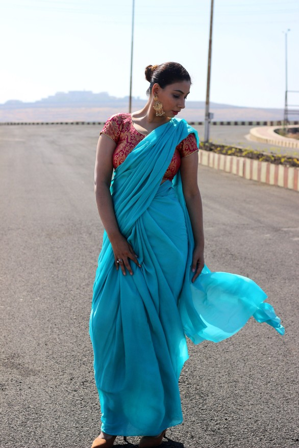Designer sarees and blouses shop-Pink Paparazzi (2)