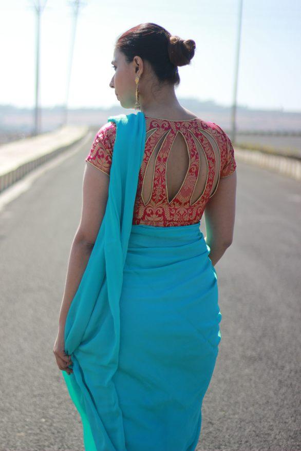 Designer sarees and blouses shop - Pink Paparazzi (2)