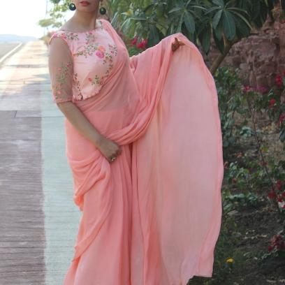 Designer sarees and blouses shop-Pink Paparazzi (3)