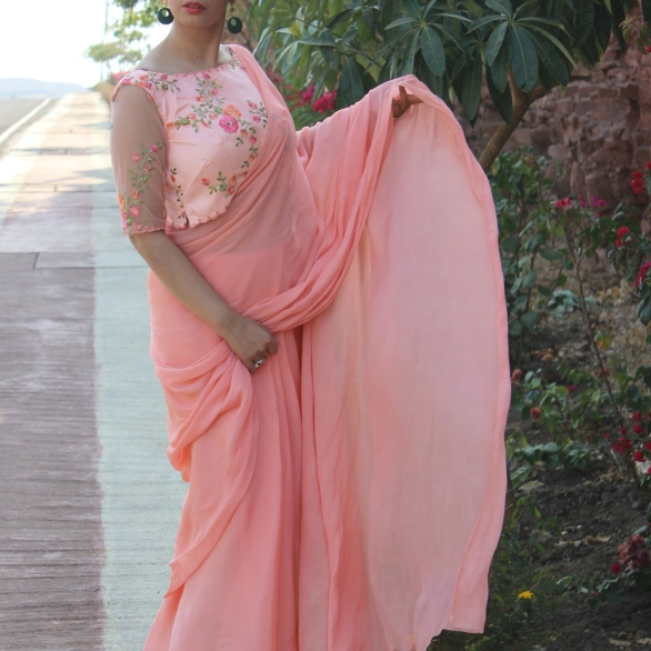 Designer sarees and blouses shop-Pink Paparazzi (3)