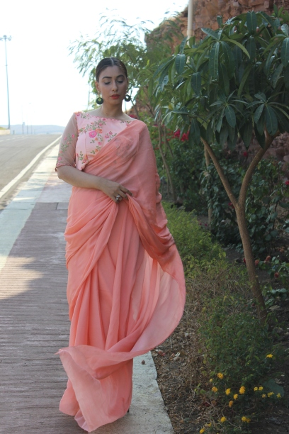 Designer sarees and blouses shop-Pink Paparazzi (4)