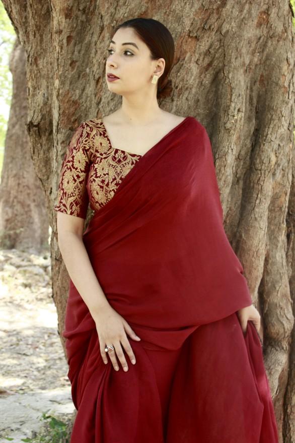 Designer sarees and blouses shop-Pink Paparazzi (5)